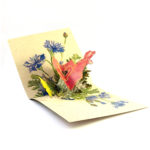 Tarjeta Pop Up Flores