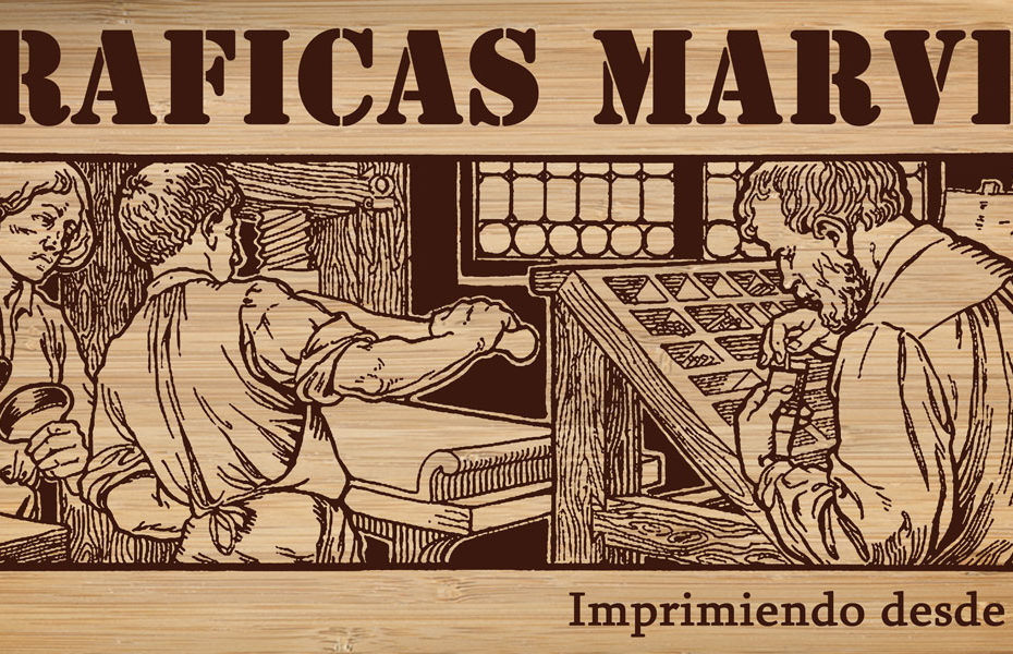 Cartel de la imprenta tipográfica Marvel