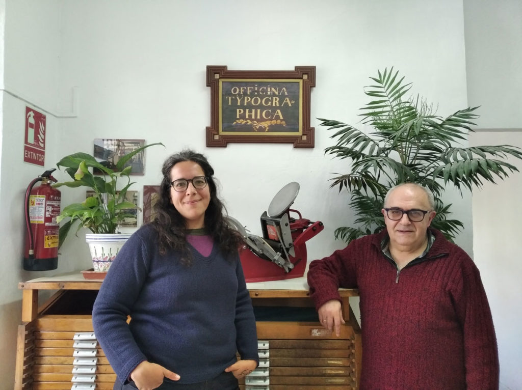 Emilio José y Tara Vega, padre e hija tipógrafos