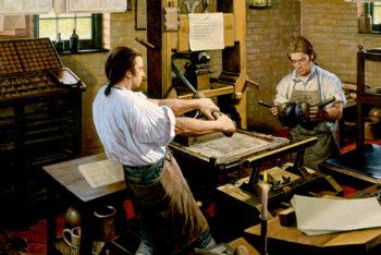 Antiguos oficios en los talleres de imprenta tipográfica manual