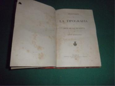 Libro Tratado de la Tipografía (o arte de la imprenta), de José Giráldez