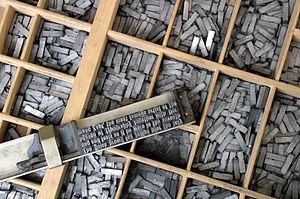 Tipos de plomo - imprenta tipográfica